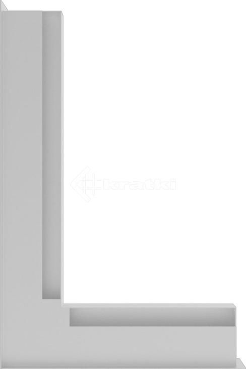 Решетка для камина Kratki Luft 45S NL 60x40x6 белая (LUFT/NL/6/40/45S/B). Фото 3