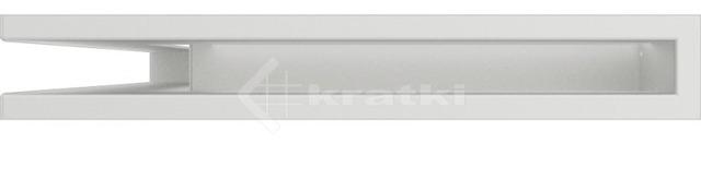 Решетка для камина Kratki Luft 45S NL 60x40x6 белая (LUFT/NL/6/40/45S/B). Фото 2
