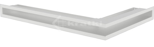 Решетка для камина Kratki Luft 45S NL 60x40x6 белая (LUFT/NL/6/40/45S/B)