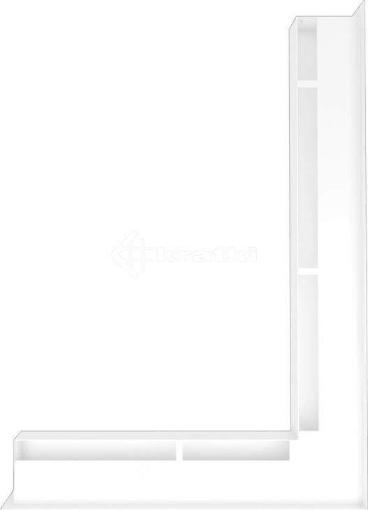 Решетка для камина Kratki Luft 45S NP 54,7x76,6x6 белая (LUFT/NP/60/45S/B). Фото 2