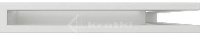 Решетка для камина Kratki Luft 45S NP 40x60x6 белая (LUFT/NP/6/40/45S/B). Фото 2