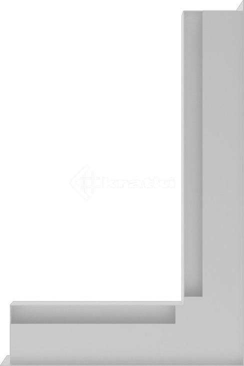 Решетка для камина Kratki Luft 45S NP 40x60x6 белая (LUFT/NP/6/40/45S/B). Фото 3