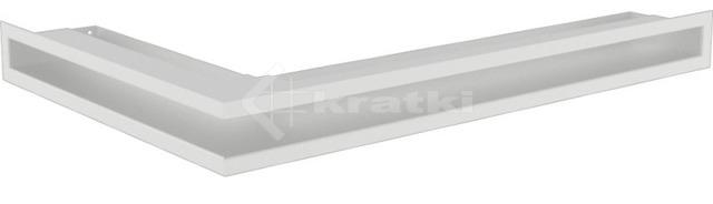Решетка для камина Kratki Luft 45S NP 40x60x6 белая (LUFT/NP/6/40/45S/B)