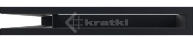 Решетка для камина Kratki Luft 45S NL 60x40x6 графитовая (LUFT/NL/6/40/45S/G). Фото 2