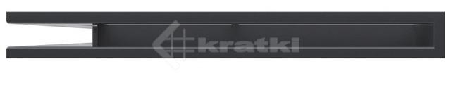 Решетка для камина Kratki Luft 45S NS 56x56x6 графитовая (LUFT/NS/60/45S/G). Фото 2