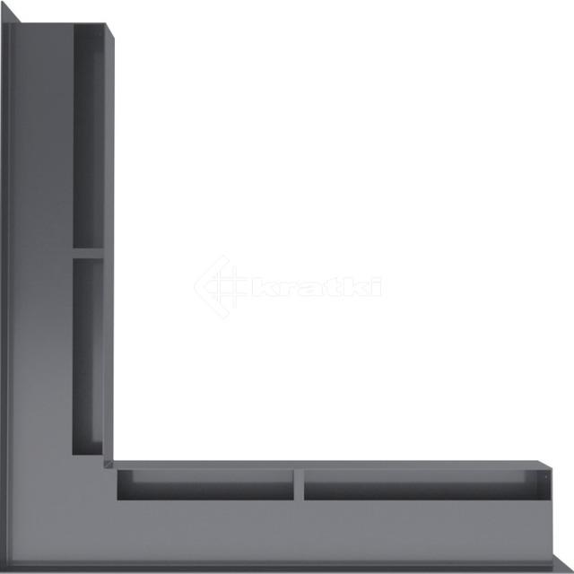 Решетка для камина Kratki Luft 45S NS 56x56x6 графитовая (LUFT/NS/60/45S/G). Фото 3
