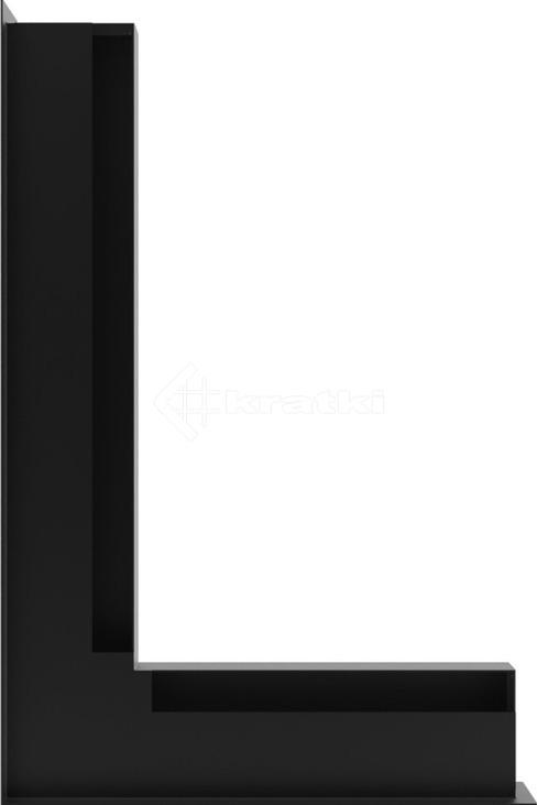 Решетка для камина Kratki Luft 45S NL 60x40x6 черная (LUFT/NL/6/40/45S/C). Фото 3