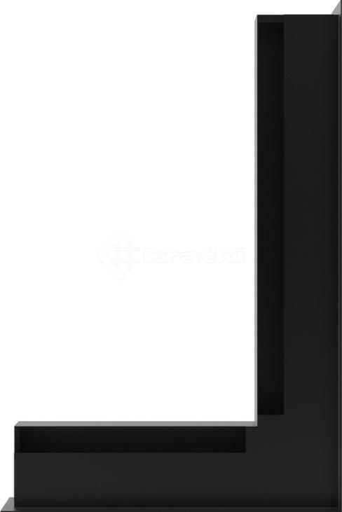 Решетка для камина Kratki Luft 45S NP 40x60x6 черная (LUFT/NP/6/40/45S/C). Фото 3