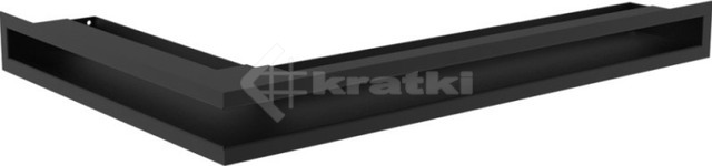 Решетка для камина Kratki Luft 45S NP 40x60x6 черная (LUFT/NP/6/40/45S/C)