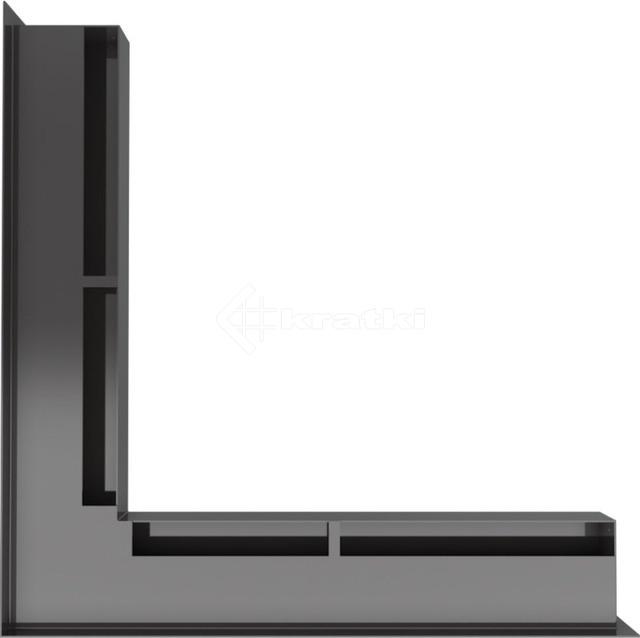 Решетка для камина Kratki Luft 45S NS 56x56x6 черная (LUFT/NS/60/45S/C). Фото 3