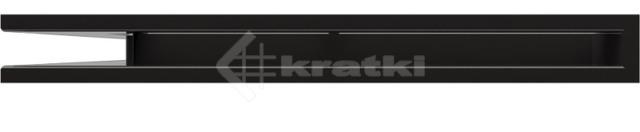Решетка для камина Kratki Luft 45S NS 56x56x6 черная (LUFT/NS/60/45S/C). Фото 2