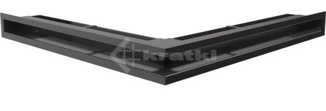 Решетка для камина Kratki Luft 45S NS 56x56x6 черная (LUFT/NS/60/45S/C)