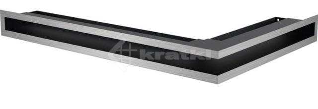 Решетка для камина Kratki Luft 45S NL 60x40x6 шлифованная (LUFT/NL/6/40/45S/SZ)