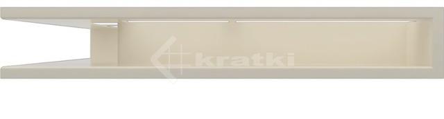 Решетка для камина Kratki Luft 45S NS 56x56x9 кремовая (LUFT/NS/90/45S/K). Фото 3