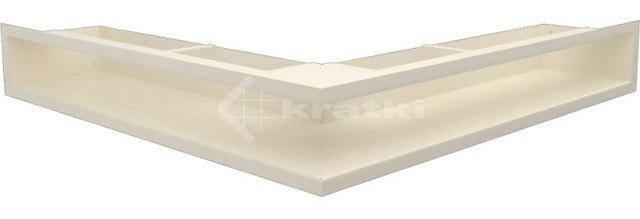 Решетка для камина Kratki Luft 45S NS 56x56x9 кремовая (LUFT/NS/90/45S/K)