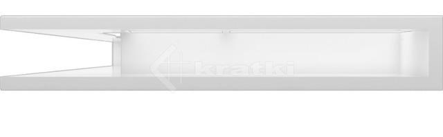 Решетка для камина Kratki Luft 45S NL 76,6x54,7x9 белая (LUFT/NL/90/45S/B). Фото 2