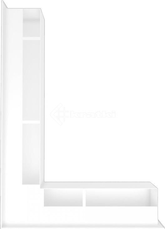 Решетка для камина Kratki Luft 45S NL 76,6x54,7x9 белая (LUFT/NL/90/45S/B). Фото 3