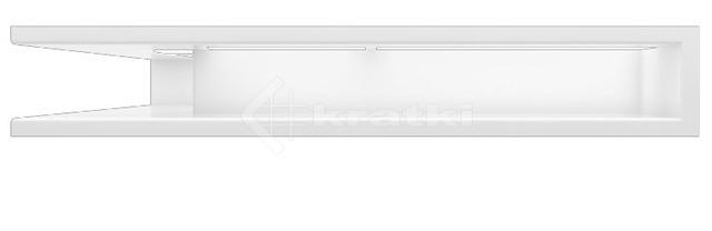 Решетка для камина Kratki Luft 45S NS 56x56x9 белая (LUFT/NS/90/45S/B). Фото 2