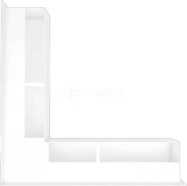 Решетка для камина Kratki Luft 45S NS 56x56x9 белая (LUFT/NS/90/45S/B). Фото 3