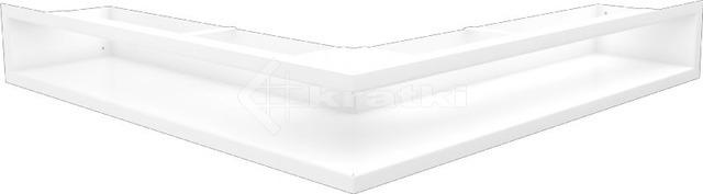 Решетка для камина Kratki Luft 45S NS 56x56x9 белая (LUFT/NS/90/45S/B)