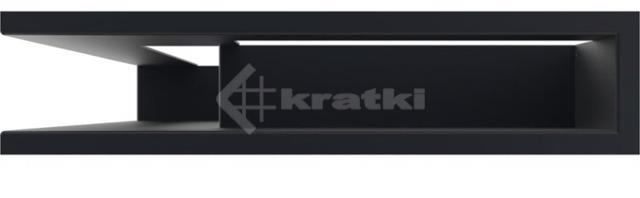 Решетка для камина Kratki Luft 45S NL 60x40x9 графитовая (LUFT/NL/9/40/45S/G). Фото 2