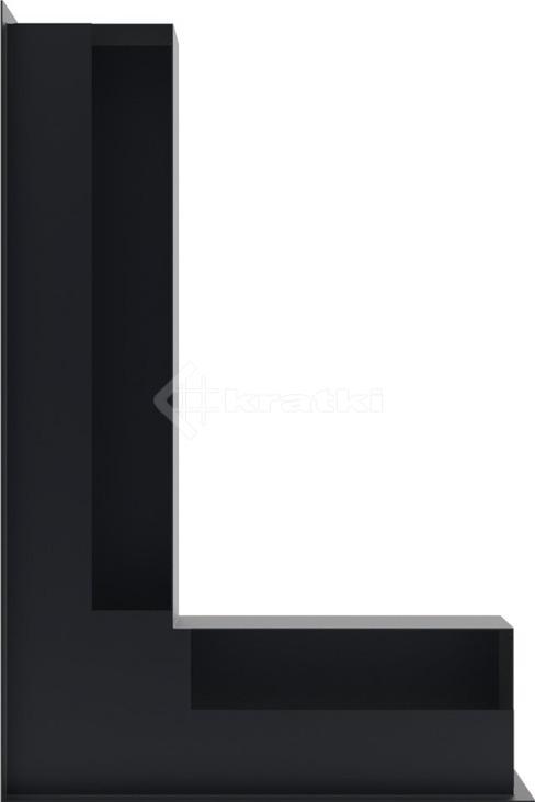 Решетка для камина Kratki Luft 45S NL 60x40x9 графитовая (LUFT/NL/9/40/45S/G). Фото 3