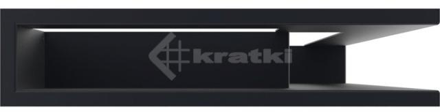Решетка для камина Kratki Luft 45S NP 40x60x9 графитовая (LUFT/NP/9/40/45S/G). Фото 2