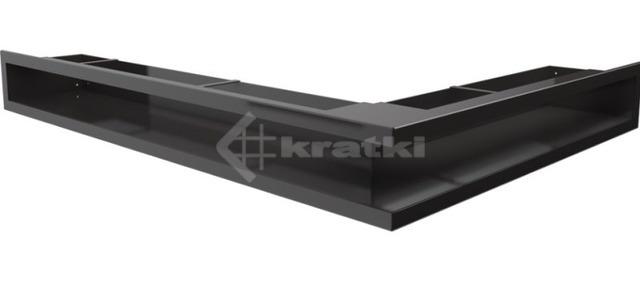 Решетка для камина Kratki Luft 45S NL 76,6x54,7x9 черная (LUFT/NL/90/45S/C)