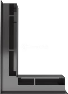 Решетка для камина Kratki Luft 45S NL 76,6x54,7x9 черная (LUFT/NL/90/45S/C). Фото 3