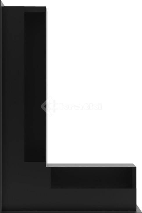Решетка для камина Kratki Luft 45S NL 60x40x9 черная (LUFT/NL/9/40/45S/C). Фото 3
