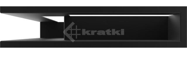 Решетка для камина Kratki Luft 45S NL 60x40x9 черная (LUFT/NL/9/40/45S/C). Фото 2