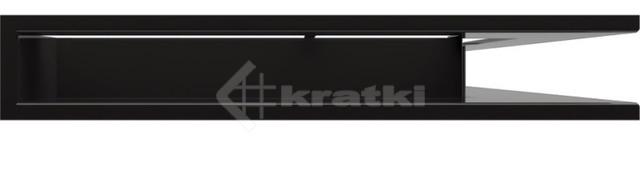 Решетка для камина Kratki Luft 45S NP 54,7x76,6x9 черная (LUFT/NP/90/45S/C). Фото 2