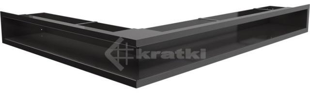 Решетка для камина Kratki Luft 45S NP 54,7x76,6x9 черная (LUFT/NP/90/45S/C)
