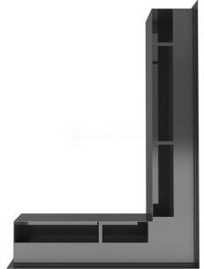 Решетка для камина Kratki Luft 45S NP 54,7x76,6x9 черная (LUFT/NP/90/45S/C). Фото 3