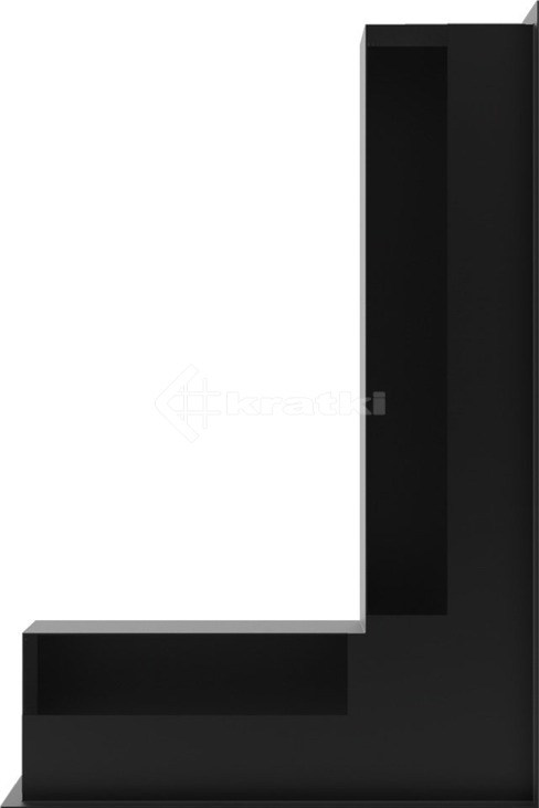 Решетка для камина Kratki Luft 45S NP 40x60x9 черная (LUFT/NP/9/40/45S/C). Фото 3