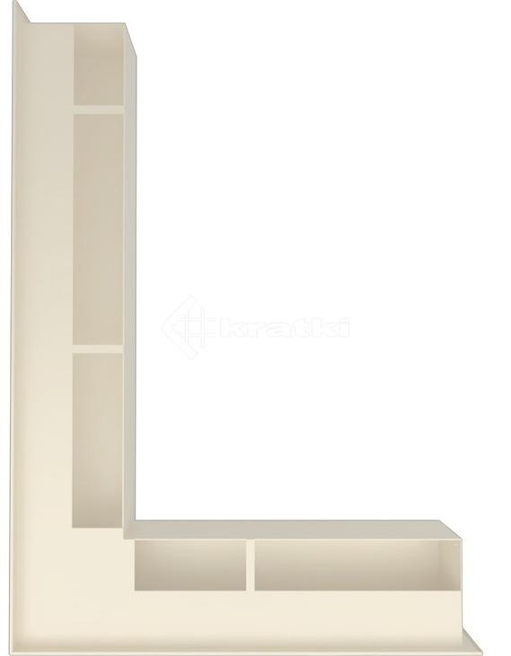 Решетка для камина Kratki Luft 45SF NL 76,6x54,7x9 кремовая (LUFT/NL/90/45S/K/SF). Фото 3