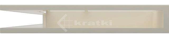 Решетка для камина Kratki Luft 45SF NL 76,6x54,7x9 кремовая (LUFT/NL/90/45S/K/SF). Фото 2