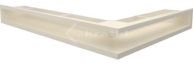 Решетка для камина Kratki Luft 45SF NL 76,6x54,7x9 кремовая (LUFT/NL/90/45S/K/SF)