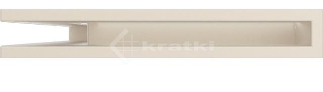 Решетка для камина Kratki Luft 45SF NL 60x40x6 кремовая (LUFT/NL/6/40/45S/K/SF). Фото 2