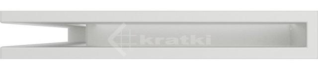 Решетка для камина Kratki Luft 45SF NL 60x40x6 белая (LUFT/NL/6/40/45S/B/SF). Фото 2