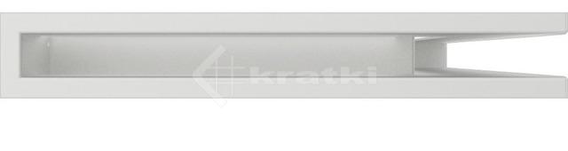 Решетка для камина Kratki Luft 45SF NP 40x60x6 белая (LUFT/NP/6/40/45S/B/SF). Фото 2