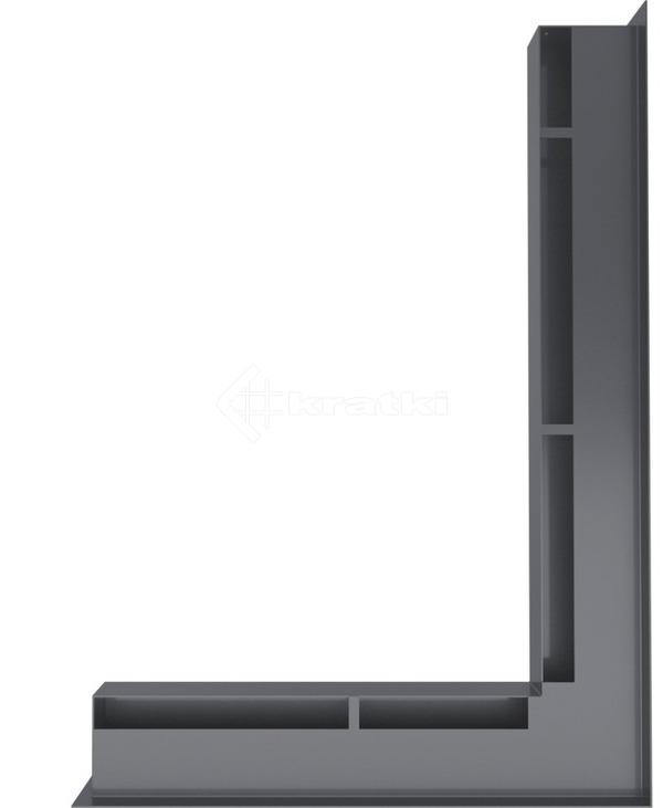 Решетка для камина Kratki Luft 45SF NP 54,7x76,6x6 графитовая (LUFT/NP/60/45S/G/SF). Фото 3