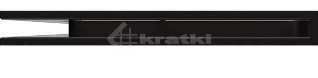 Решетка для камина Kratki Luft 45SF NL 76,6x54,7x6 черная (LUFT/NL/60/45S/C/SF). Фото 2