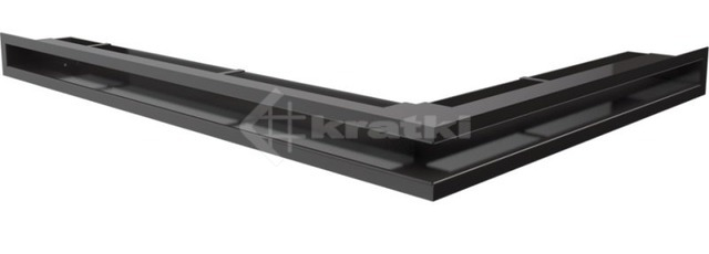 Решетка для камина Kratki Luft 45SF NL 76,6x54,7x6 черная (LUFT/NL/60/45S/C/SF)