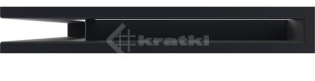 Решетка для камина Kratki Luft 45SF NL 60x40x6 черная (LUFT/NL/6/40/45S/C/SF). Фото 2
