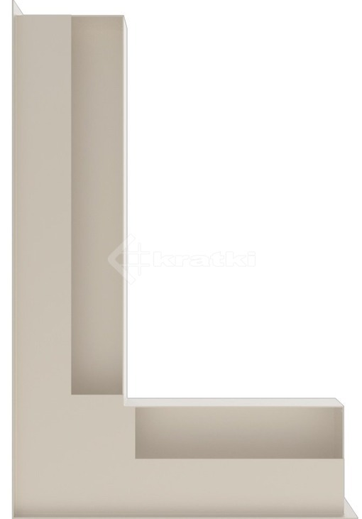 Решетка для камина Kratki Luft 45SF NL 60x40x9 кремовая (LUFT/NL/9/40/45S/K/SF). Фото 3