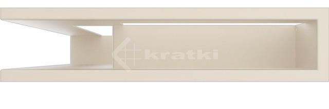 Решетка для камина Kratki Luft 45SF NL 60x40x9 кремовая (LUFT/NL/9/40/45S/K/SF). Фото 2