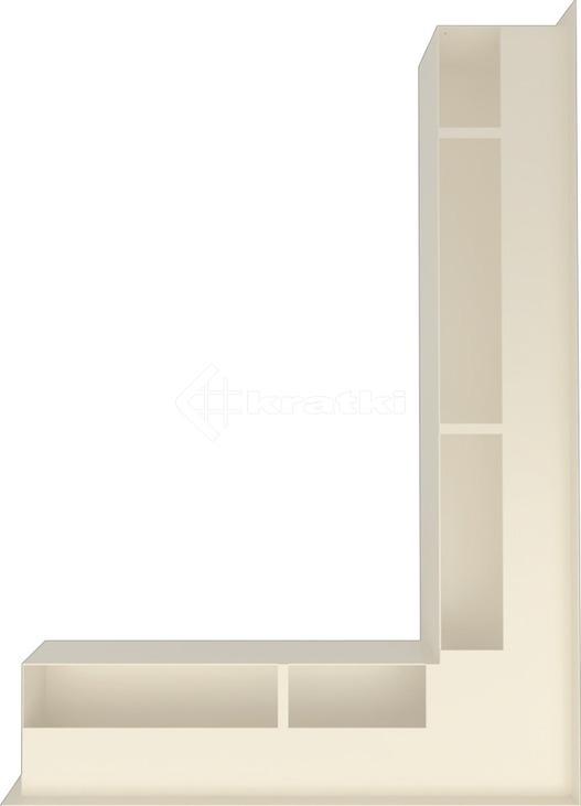 Решетка для камина Kratki Luft 45SF NP 54,7x76,6x9 кремовая (LUFT/NP/90/45S/K/SF). Фото 3