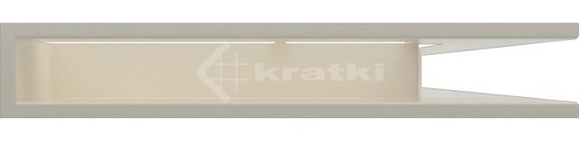 Решетка для камина Kratki Luft 45SF NP 54,7x76,6x9 кремовая (LUFT/NP/90/45S/K/SF). Фото 2