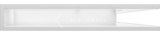 Решетка для камина Kratki Luft 45SF NP 54,7x76,6x9 белая (LUFT/NP/90/45S/B/SF). Фото 2